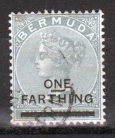Bermuda Queen Victoria One Farthing Overprint On 1/-  Stamp From The 1901 Series. - Bermuda