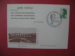Entier Carte Postale 1985 Liberté De Gandon : 42 è Exposition Nationale Des Cheminots Philatélistes Viaduc De Poix - Overprinter Postcards (before 1995)