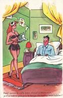 """CARTE FANTAISIE. HUMOUR SEXY. """" Pour Servir Le Café Bien Chaud à Monsieur  ....."""".ANNEE 1962 - Humour"""