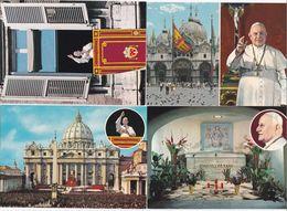 Vatican 1966 4 Different Postcards From 2 Different Popes : Paulus P.P. VI - Johannes P.P. XXIII - Pausen