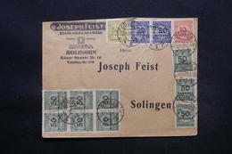 ALLEMAGNE - Enveloppe Commerciale De Döbeln Pour Silingen En 1923 , Affranchissement Plaisant Recto Et Verso - L 28301 - Germania