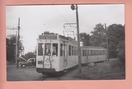 OUDE FOTOKAART BELGIE - BELGIQUE -  1952 - TRAM - BRASSCHAAT - ANTWERPEN - Brasschaat