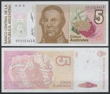 Argentina / 1985-89 / 5 Australes / P: 324b / UNC - Argentine