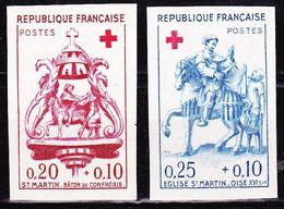 France 1960 Au Profit De La Croix-Rouge La Paire Non Dentelé Neuf Sans Charniere Yvert 1278 /1279 - Frankrijk