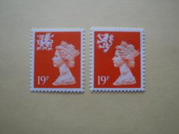 1989  Grande Bretagne Yv 1349b 1351a  ** MNH Série Courante Cote 4.00 €   Definitives - Neufs