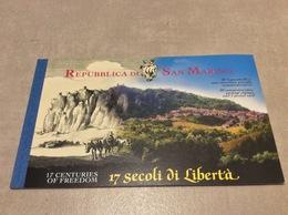 Carnet 20 Timbres San Marino 1700 Ans De Liberté Carnet Neuf** 2000 - Carnets