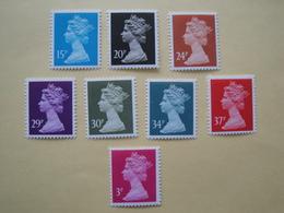 1989  Grande Bretagne Yv 1402/8 - 1420  ** MNH Série Courante Cote 18.50 €  Michel 1222/8 + ?? Definitives - 1952-.... (Elizabeth II)