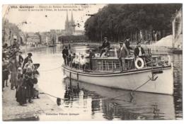 """CPA 29 - QUIMPER  (Finistère) - 3852. Départ Du Bateau Automobile """"Terfel"""" - Collection Villard - Quimper"""