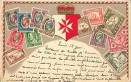 MALTE  Carte Postale Timbres - Malte