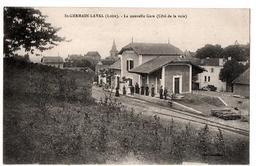 ST GERMAIN LAVAL LA NOUVELLE GARE COTE VOIE TRES ANIMEE - Saint Germain Laval