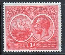 Bermuda George V One Penny Tercentenary Stamp From The 1920 Series. - Bermuda