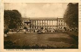 POLOGNE  WARSZAWA   Le Jardin De Saxe - Polonia