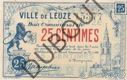 LEUZE Noodgeld/Argent De Necessité 1918 0,25 (G128) - [ 3] Occupazioni Tedesche Del Belgio