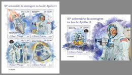 SAO TOME 2019 MNH Apollo 11 Space Raumfahrt Espace M/S+S/S - OFFICIAL ISSUE - DH1913 - Afrika