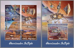 MOZAMBIQUE 2019 MNH Insight Lander Mars Space Raumfahrt Espace M/S+S/S - OFFICIAL ISSUE - DH1909 - Afrika