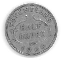 SEYCHELLES - HALF RUPEE 1960 - Elizabeth II - Seychelles