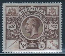 Bermuda George V ¼d Single Stamp From The Second Tercentenary Series Of 1921. - Bermuda