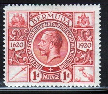 Bermuda George V 1d Single Stamp From The Second Tercentenary Series Of 1921. - Bermuda