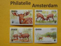 Ghana 1984, WWF FAUNA BONGO: Mi 1060-63, ** - W.W.F.