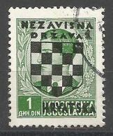HR 1941-11 DEFINITIVE SET, CROATIA HRVATSKA, 1 X 1v, Used - Croatie