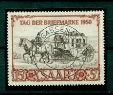 Saarland, Tag Der Briefmake 1950, Nr.291 Gestempelt - Abstimmungsgebiete