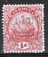 Bermuda George V 1d Single Stamp From The 1922 Definitive Set. - Bermuda