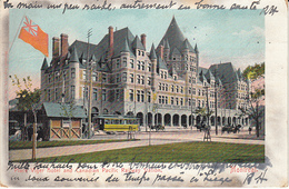 Place Viger Hotel And Canadian Pacific Railway Station (colorisée, Tram Tramway) - Montreal