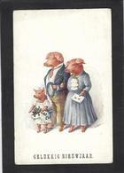CPA Cochon Pig Position Humaine Humanisé Circulé - Varkens