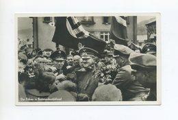1938 Karlsbad Sudetenland  Photo Hoffmann Karte Der Führer In Sudetendeutschland Mischfrankatur Mit Karlsbad Nr. 62 - Sudetes
