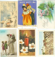 6x Small Sized Cards (4x God Jul, 4x Christmas Cards). - Zweden