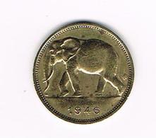 //   BELGISCH  CONGO - CONGO  BELGE  1 FRANK  OLIFANT  1946 - Congo (Belge) & Ruanda-Urundi