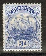 Bermuda George V 3d Single Stamp From The 1922 Definitive Set. - Bermuda