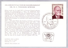 1973  100. Geb. Dr. Körner FDC Karte  (ANK 1442, Mi 1412) - FDC