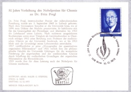 1973 Dr. Fritz Pregl FDC Karte (ANK 1462, Mi 1436) - FDC