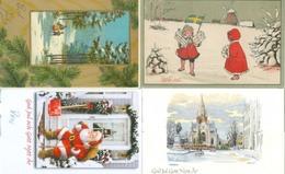 Sweden; 4 Christmas Cards, 4 God Jul. (Large Size) - Zweden