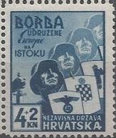 HR 1941-69 ANTIIBOLSHEVIK, CROATIA HRVATSKA, 1 X 1v, MNH - Croatie