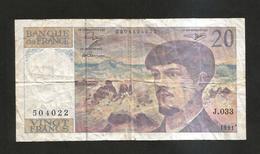 FRANCE - BANQUE De FRANCE - 20 Francs DEBUSSY (1991) - 1962-1997 ''Francs''