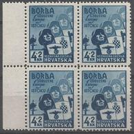 HR 1941-69 ANTIIBOLSHEVIK, CROATIA HRVATSKA, 4 X 1v, MNH - Croatie