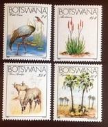 Botswana 1983 Endangered Species Birds Animals Flowers MNH - Briefmarken