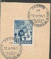 HR 1941-69 ANTIIBOLSHEVIK, CROATIA HRVATSKA, 4 X 1v, Used - Croatie