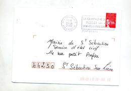 Lettre Flamme Pont De Buis Campagne - Postmark Collection (Covers)