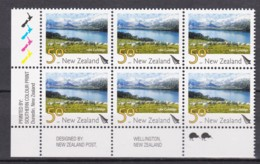 New Zealand 2007 Scenic 50c Lake Coleridge Control Block MNH, 2 Kiwis - New Zealand