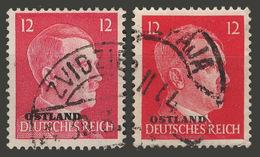 Third Reich / Ostland / 1941 / Mi.: 8 & 20 / Used - Occupation 1938-45