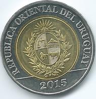 Uruguay - 10 Pesos - 2015 - Bicentennial Of Land Regulation - KM141 - Uruguay