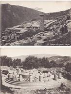 LOT X 2 GREECE, DELPHI ANCIENT RUINS, TEMPLE OF APOLLO - MARMARIA C1910s Vintage Antique Postcards - Greece