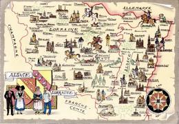 CP - JACK - Barré Et Dayez - Barday - Carte Géographique - Alsace Lorraine - 1529B - Landkarten