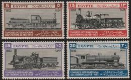 ~~~ Egypt 1933 - Railway Set  - Mi. 160/163 * MH OG - Cat. 75.00 Euro ~~~ - Egypte