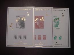 COFFRET COMPLET MARIANNE ETOILES D'OR N° 4020 CONTENANT 15 BLOCS FEUILLET NUMEROTES ** - Sheetlets