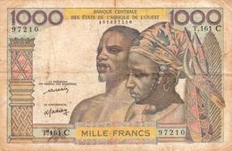 Billet 1000 F. Banque Centrale Des Etats De L'Afrique De L'Ouest. Lettre C. Burkina Faso.1976 - West African States