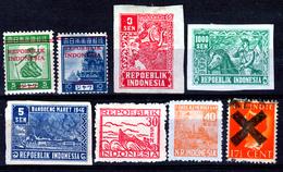 INDONESIA  INTERIM STAMPS UNUSED - Indonesia